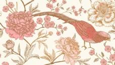 植物花鸟创意背景图