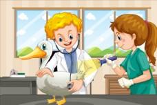 卡通宠物医生
