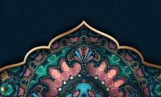 欧式花纹背景