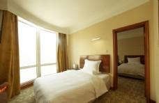 星级酒店双人床
