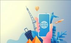 环球旅行海报