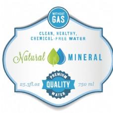 精美水资源标签