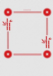 中国风红色边框线条手抄报元素